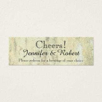 Königin der Herzen Wedding Getränk-Karten Mini Visitenkarte