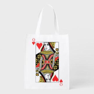 Königin der Herzen Wiederverwendbare Einkaufstasche