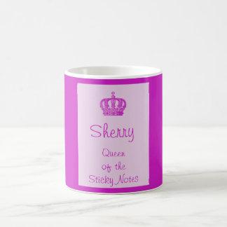 Königin der klebrigen Anmerkungs-Tasse Tasse