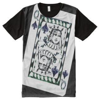 Königin der Spaten T-Shirt Mit Komplett Bedruckbarer Vorderseite