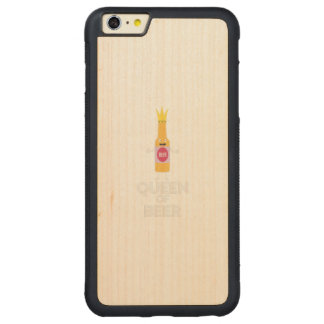 Königin des Bieres Zh80k Carved® Maple iPhone 6 Plus Bumper Hülle