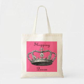 Königin des Einkaufens Budget Stoffbeutel