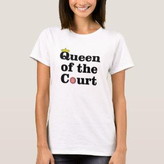 Königin des Gerichts-Tennis-T - Shirt
