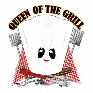 Königin des Grills - der Hut des Koch u GRILLEN W Acryl Ausschnitte