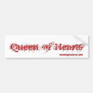 Königin des Herz-Autoaufklebers Autoaufkleber