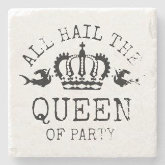 Königin des Party Stein Untersetzer