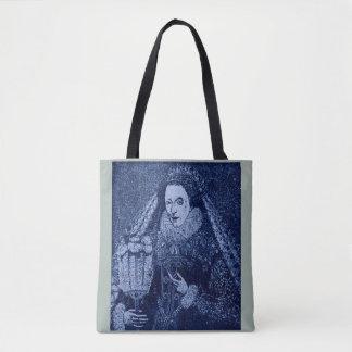 Königin Elizabeth I im Blau Tasche