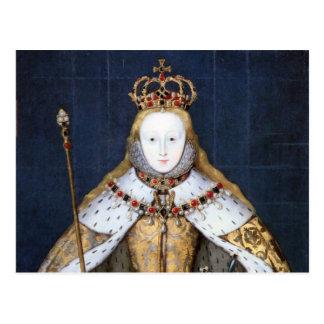 Königin Elizabeth I: Krönung Postkarte