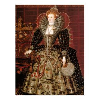 Königin Elizabeth I von England Postkarte