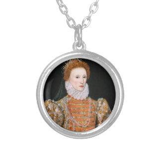Königin Elizabeth - Necklance Versilberte Kette