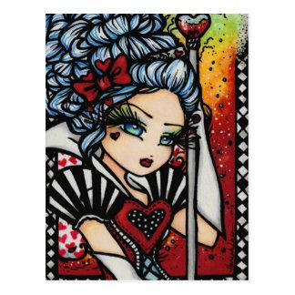 Königin Fantasie-Kunst-Mädchens Herz-Alices des Postkarte