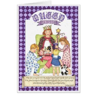 Königin für die Tagesgeburtstags-Karte