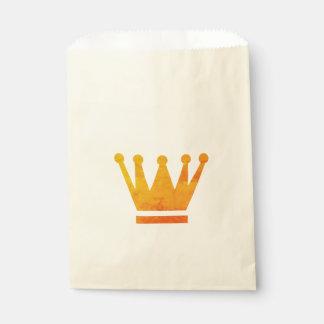 Königin-goldene Kronen-Bevorzugungs-Tasche Geschenktütchen