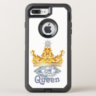 Königin-Goldkrone u. Diamanten, Otterbox Fall OtterBox Defender iPhone 8 Plus/7 Plus Hülle