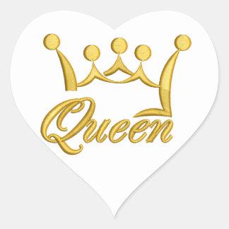 Königin Herz-Aufkleber