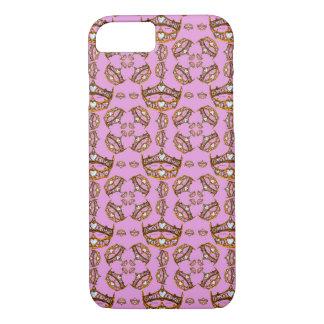 Königin Herzgoldkronen-Tiara lila iphone Falles iPhone 8/7 Hülle