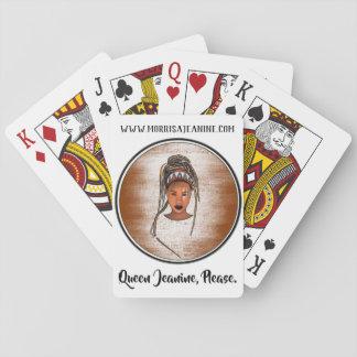 Königin Jeanine, bitte Spielkarten