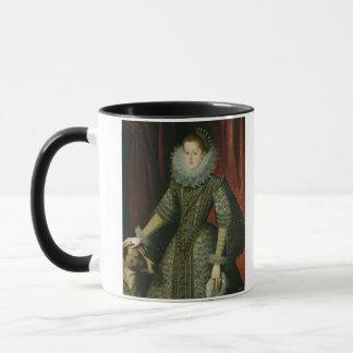 Königin Margarita von Österreich, 1609 (Öl auf Tasse