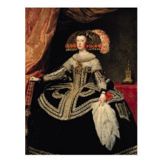 Königin Maria Anna von Österreich, 1652 Postkarte