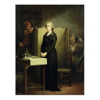 Königin Marie Antoinette im Conciergerie Postkarte
