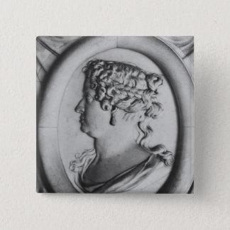 Königin Marie-Therese von Österreich Quadratischer Button 5,1 Cm