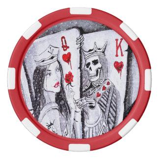 Königin meines Herzens Poker Chip Set