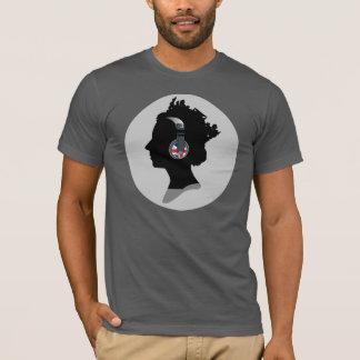 KÖNIGIN MIT KOPFHÖRER amerikanischem KleiderT - T-Shirt