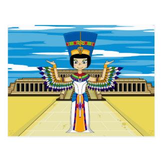 Königin Nefertiti an Hatshepsut Postkarte