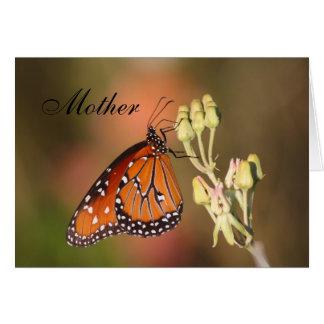 Königin-Schmetterling der Mutter Tages Karte
