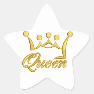 Königin Stern-Aufkleber