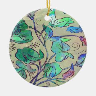 Königin-süße Erbse Keramik Ornament