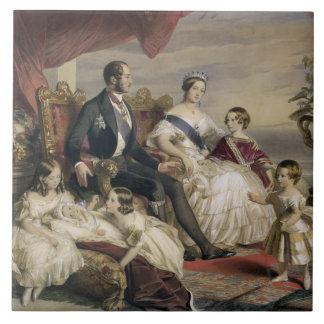 Königin Victoria (1819-1901) und Prinz Albert (181 Große Quadratische Fliese