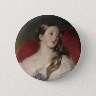 Königin Victoria Runder Button 5,1 Cm