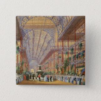Königin Victoria, welches die Ausstellung 1862 Quadratischer Button 5,1 Cm