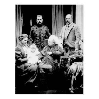 Königin Victoria, Zar Nicholas II Postkarte