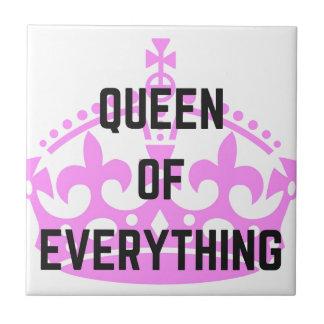Königin von alles Kronen-Text-Illustration Keramikfliese