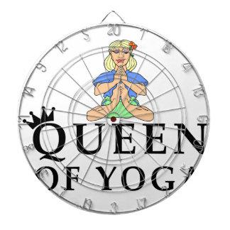 Königin von Yoga Dartscheibe