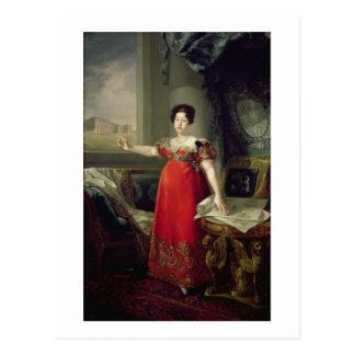 KöniginDona Maria Isabellfarbe de Braganza, 1829 Postkarte