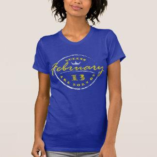 Königinnen sind am 13. Februar geboren (gewaschen T-Shirt