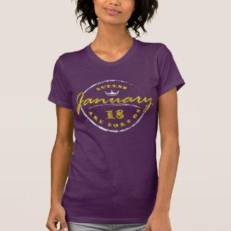 Königinnen sind am 18. Januar geboren (gewaschen T-Shirt