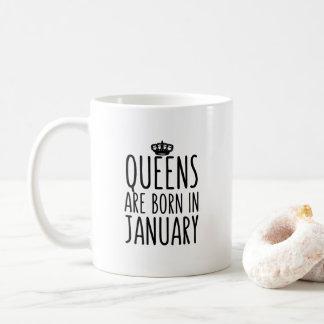 Königinnen sind geborene im Januar Kaffee-Tasse Tasse