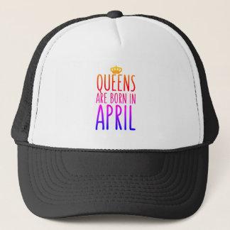 Königinnen sind geborener im April Hut Truckerkappe