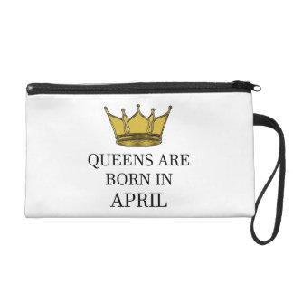 Königinnen sind im April geboren Wristlet Handtasche