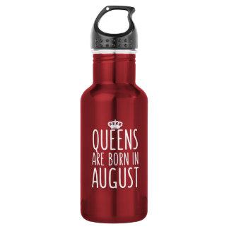 Königinnen sind im August geboren Trinkflasche
