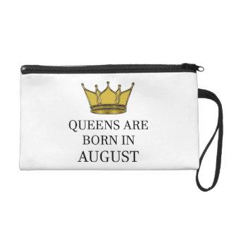 Königinnen sind im August geboren Wristlet Handtasche