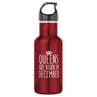 Königinnen sind im Dezember geboren Edelstahlflasche