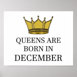Königinnen sind im Dezember geboren Poster