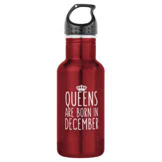 Königinnen sind im Dezember geboren Trinkflasche