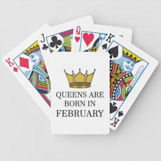 Königinnen sind im Februar geboren Bicycle Spielkarten
