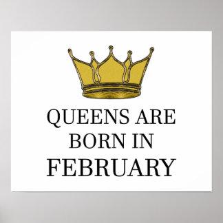 Königinnen sind im Februar geboren Poster